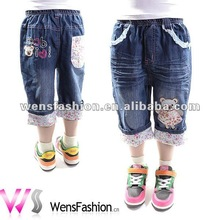 Girls Carton Printed Jeans Shorts / beautiful kids jeans
