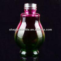 colorful glass bottle for emulsion liquid essential oil sample bottle