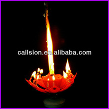 Ablaze flower firework birthday cake candle holder