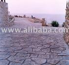 stamped concrete flooring system