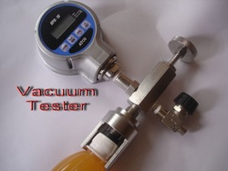 VACUUM TESTER FOR HOT FILLED JUICE BOTTLE/CONTAINER