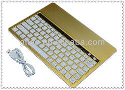 Gtide KB651 bluetooth multimedia keyboard in gold for tablet