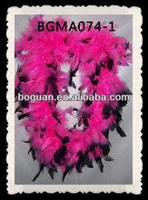2013 Decoration Bright Pink&Black Turkey Feather Baby Boas