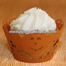 2014 holloween decoration laser cut halloween cake decoration pumpkin cupcake wrapper