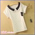 La promoción/uniforme de poliéster de algodón de manga corta camisa de polo