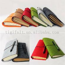 Creative colorful felt note book/memo book, diary book