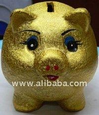 Golden Piggy Saving Bank