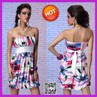 2014 Hot Sexy Mature Ladies Satin Silk Dress
