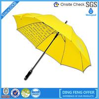 High quality popular logo print large umbrella golf