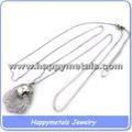 Vente en gros collier de dentition pour bébé en acier inoxydable pendentif avec chaîne pour ajuster la longueur( aa033)