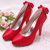 (12 Colors)Red Satin Bridal Wedding Shoes for Ladies