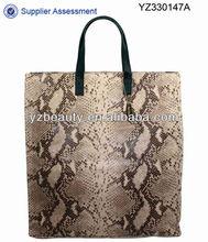 Ladies casual fashion indonesia python skin bag