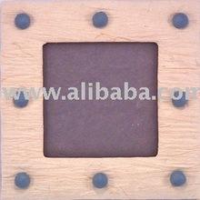 Handmade SAA Studs Padded Batik Square Photo Frames