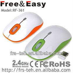 RF-361 mini falt wireless optical usb mouse in colorful
