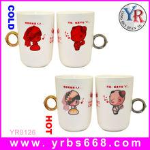 Couple Ring Magic Mug Fashion Romantic Ceramic Water Cup Birthday Valentines Day Gifts