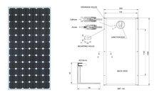 180W Monocrystalline Solar Module / Solar Panel / PV Module / PV Panel