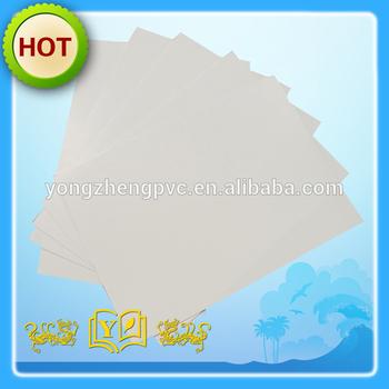 1.0mm white Non-adhesive PVC Sheets for photo Album
