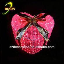 RS-AD16 D:74cm felt heart decoration