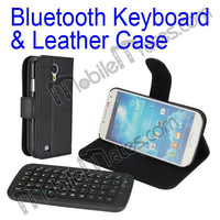 Bluetooth Keyboard Case for Samsung Galaxy s4, Detachable Wireless Keaboard Flip Leather Cover Case for Samsung Galaxy S4 i9500