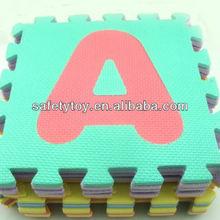 Eva tappeto puzzle di puzzle colorato anti- scivoloin gomma puzzle tappeto