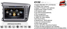 WITSON FOR HONDA CIVIC 2012 car dvd gps navigation with BT phone book