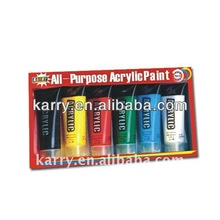 6color 60ml/pot acrylic paint ,for students