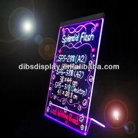 New style acrylic transparent led writing board