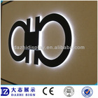outside back light led letter sign for advertising