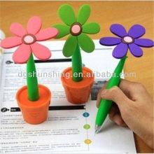 funny stationery sunflower rubber ball pen/desk pen