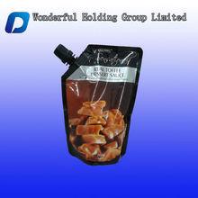 300g Reusable food sauce spout pouch packaging bag