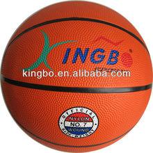 official size 7 rubber basketball ,orange color basketball