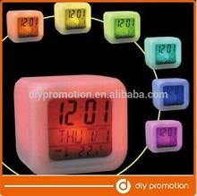 Glowing LED Color Change Digital Alarm Mood Clock, Multifunction music led Colourful clock