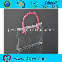 Clear Transparent Hand Pvc Bag