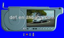 7' sunvisor dvd player TV /sun visor car monitor/sun visor car dvd player