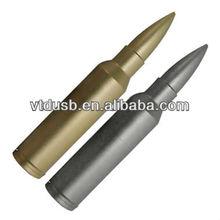 Silver metal bullet 2GB USB flash drive