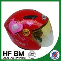 children helmets, motorcycle helmets good hardened scratch-resistant lenses in red color