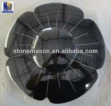 Black Granite garden accessories leaf