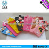 7 animals 3d shape for Disney design mobile silicone phone cover,mobile phones cover for girls