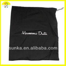 Black Cotton Drawstring Bags (SJ-D-142)