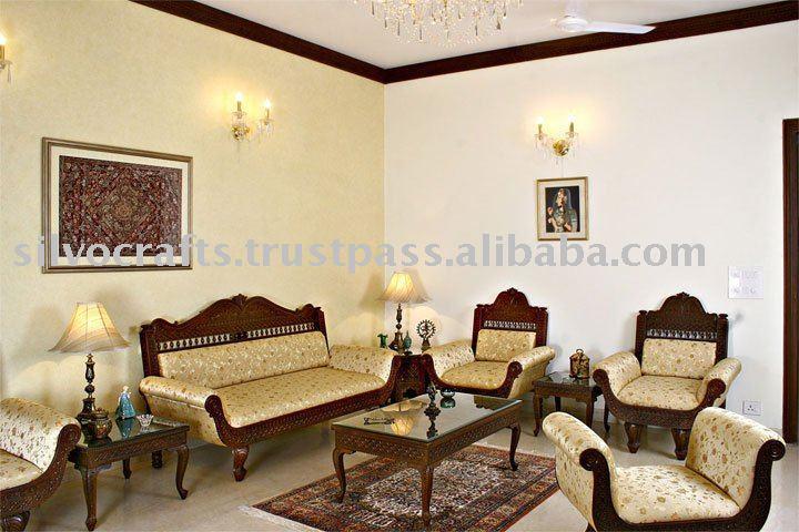 Teak Wood Carved Sofa Set - Gallery Image Iransafebox
