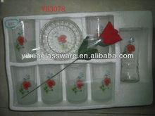 1 vase+6 cups+1 ash tray