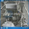 placa de acero inoxidable y marco del filtro prensa de puré de elaboración de la cerveza cerveza del filtro del filtro