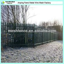 Outdoor steel security 2.75m wide standard plastic palisade fencing