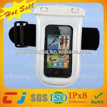 universal tpu sports waterproof bag for mobile phone with armband