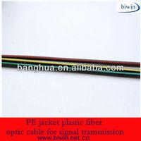 PE jacket plastic fiber optic cable for signal transmission