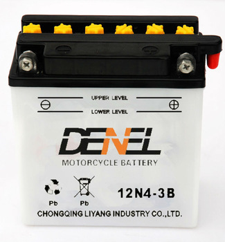 motorcycle parts used/motorcycle batetry 12v 4ah manufacturer