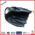 Negro guantes de béisbol de cuero proveedor