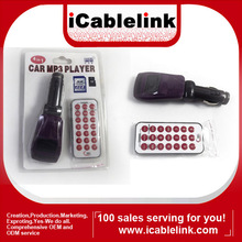 4 in 1 MP3 Player Radio Wireless Car FM Transmitter with TF/SD purple