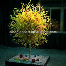 Modern Blown Glass Garden Sculpture Ball