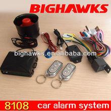 voice auto dialer alarm BIGHAWKS CA702-8108 PLC car alarm system